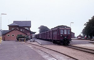 Thisted Station - DMU from DSB at Thisted station in 1976.