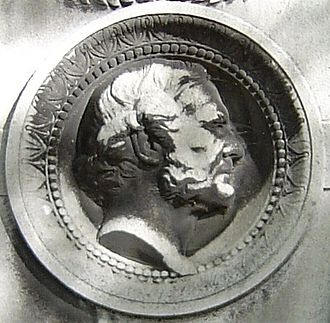 Joseph-Louis Duc - Medallion from his tomb at Montmartre Cemetery