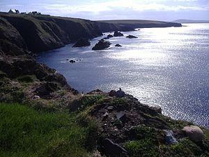 Kilcommon - The view from Dún Chiortán promontory fort, Glengad, Kilcommon, Erris.