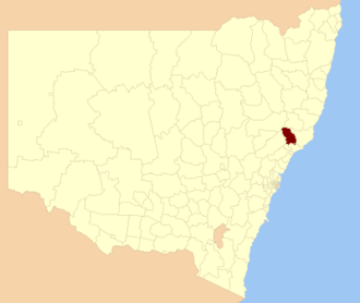 Dungog Shire - Location in New South Wales