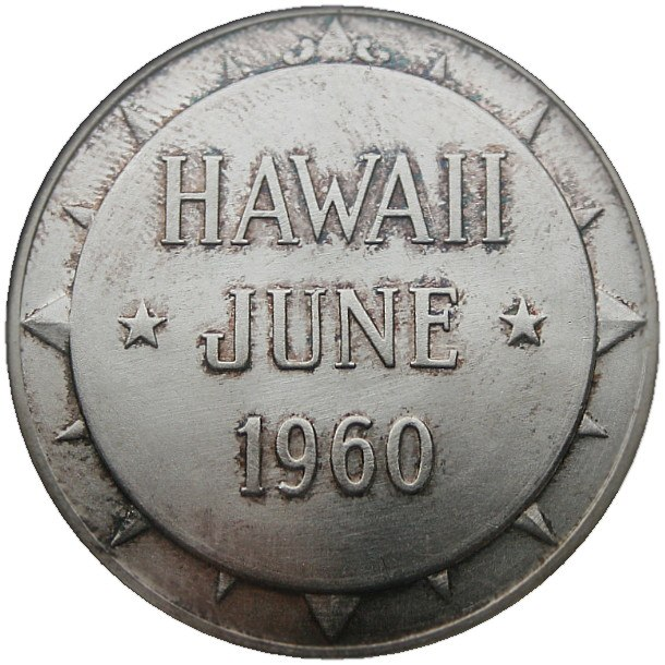 Dwight D. Eisenhower POTUS Appreciation Medal Hawaii Reverse