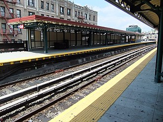 Dyckman Street (IRT Broadway–Seventh Avenue Line) - Image: Dyckman Street Platform (Bway 7th Avenue)