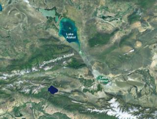 Mountain pass in the Dzungarian Alatau range