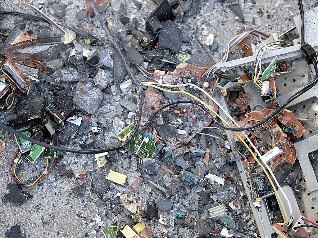 landfill of computer waste