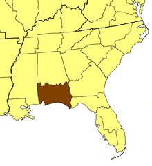 Location of the Diocese of Central Gulf Coast