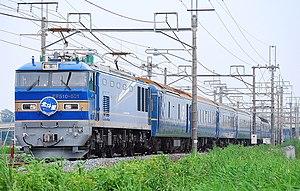 Hokutosei - A Hokutosei service hauled by a JR East Class EF510 electric locomotive in September 2010
