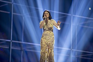 Albania in the Eurovision Song Contest 2014 - Hersi at the first semi-final dress rehearsal