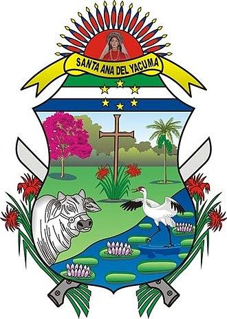 Santa Ana del Yacuma - Image: ESCUDO SANTA ANA DEL YACUMA