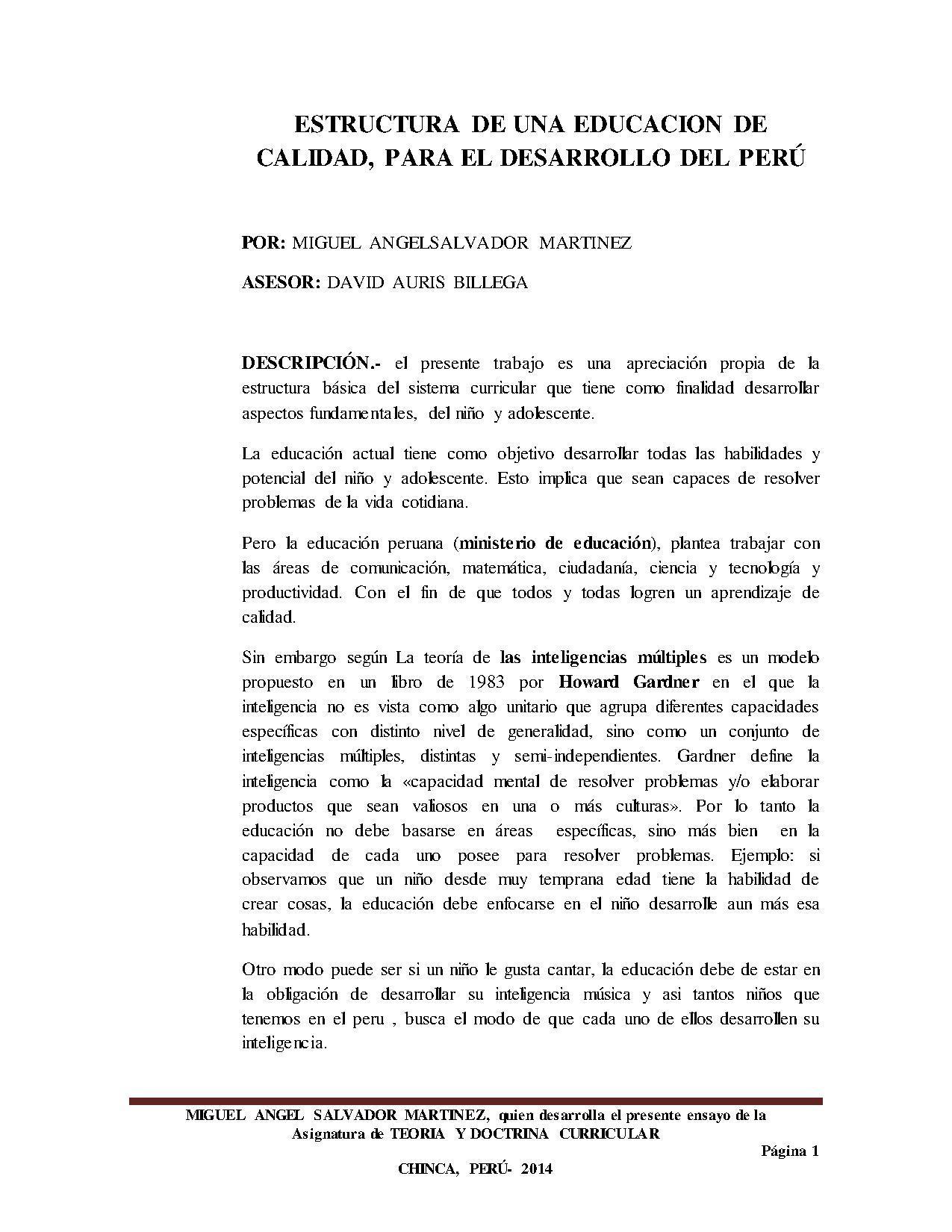 File Estructura De Una Educacion De Calidad Trabajo Pdf