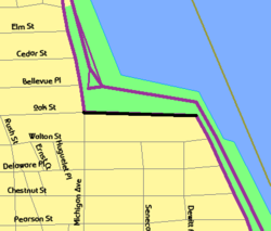 East Lake Shore Drive map.png