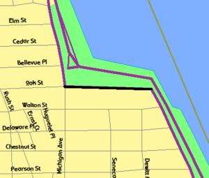 East Lake Shore Drive District - Image: East Lake Shore Drive map