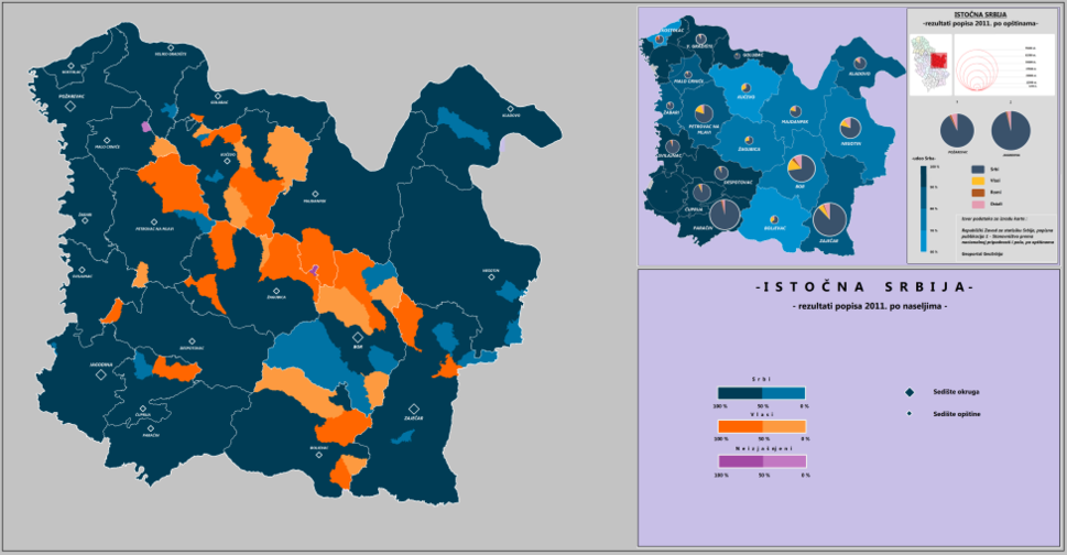 Eastern Serbia, according to 2011 census
