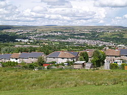 Looking north over Ebbw Vale from Hilltop