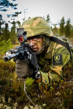 Norwegian Armed Forces - Norwegian soldier during a field exercise
