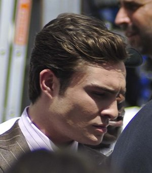 Ed Westwick - Westwick on the set of Gossip Girl in 2010