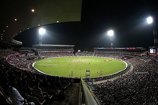 Eden Gardens cricket ground in Kolkata, India