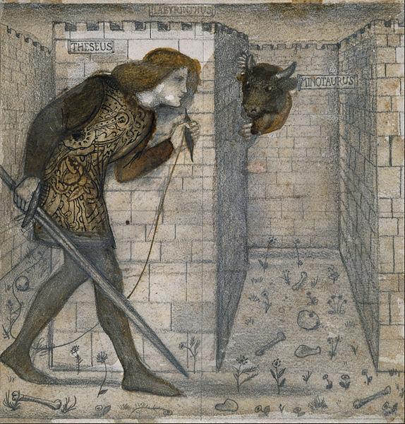 https://upload.wikimedia.org/wikipedia/commons/thumb/c/cb/Edward_Burne-Jones_-_Tile_Design_-_Theseus_and_the_Minotaur_in_the_Labyrinth_-_Google_Art_Project.jpg/574px-Edward_Burne-Jones_-_Tile_Design_-_Theseus_and_the_Minotaur_in_the_Labyrinth_-_Google_Art_Project.jpg