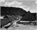 El Cerrito, San Miguel County, New Mexico. Buildings are of many different shapes and sizes. Notic . . . - NARA - 521150.tif