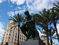 El Pensador de Rodin a la plaça de l'Ajuntament de València.JPG