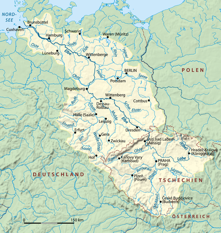 Elbe River: (contained by) Germany, Czech Rep.