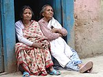 Elderly Women in Street - Thamel District - Kathmandu - Nepal (13964586872).jpg