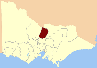 Electoral district of Rodney - Location in Victoria, 1856