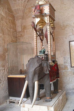Kasımiye Medrese - Elephant clock in Kasımiye Medrese