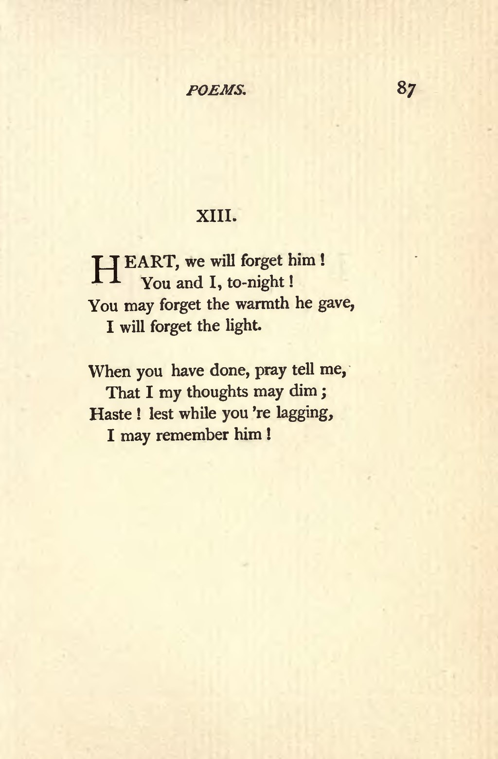 heart we will forget him poem