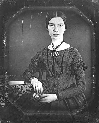 Because I could not stop for Death - Emily Dickinson in a daguerreotype, circa December 1846 or early 1847