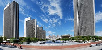 Empire State Plaza - Image: Empire State Plaza Panorama