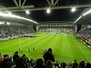 Wigan Warriors - DW Stadium before the 2013 Rugby League World Cup Quarter-final between England and France