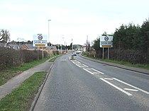 Entering Spion Kop on A60 road.JPG