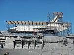 Enterprise with scaffolding, Jan 2013 jeh.jpg