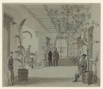 William Waud - Image: Entrance Hall of Mr Chas. Green's house, Savannah Ga, now occupied as Head Quarters by Gen Sherman