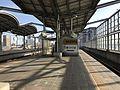 Entrance of Heisei Chikuho Railway on platform of Yukuhashi Station.jpg