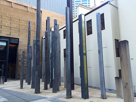 Edge of the Trees, artwork in the museum forecourt, installed in 1995. Entry point 2.jpg