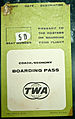 Ephemera, Defunct airlines, TWA boarding pass, New York to London 1970 - Flickr - PhillipC.jpg