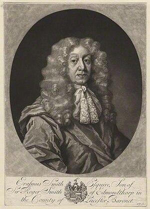 Erasmus Smith - Image: Erasmus Smith (1611–1691), by George White (ca. 1684–1732)