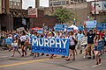 Erin Murphy for Governor Banner at Twin Cities Pride Parade 2018, Minneapolis, Minnesota (43000123331).jpg