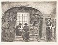 """Ernst Oppler """"Kleine Synagoge in Munkacs"""", Radierung 1915.jpg"""