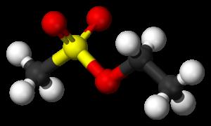 Ethyl methanesulfonate - Image: Ethyl mesylate 3D balls