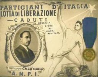 Eugenio Calò - Certificate of the Gold Medal for Military Valour awarded to Eugenio Calò.