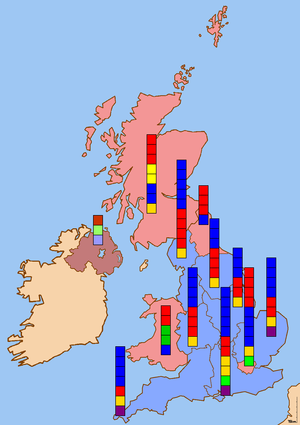 European Parliament election, 1999 (United Kingdom) - Image: European Parliament election 1999 UK results
