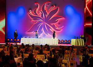Eurovision Song Contest 2012 - Semi-final allocation draw ceremony at the Buta Palace in Baku.