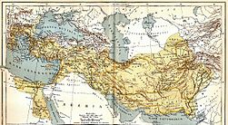 Excellent map of Alexander's conquests using the Latin nomenclature, published in Germany in 1893.jpg