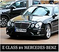 Exemplary tuned Mercedes-Benz E-Class 4-door in London @ The Four Seasons Hotel Canary Wharf. What a great car! Enjoy the quality lines! ) (4657493727).jpg