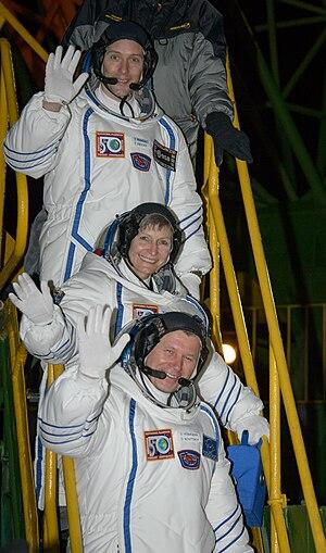Thomas Pesquet - The crew of Soyuz MS-03 prior to launch