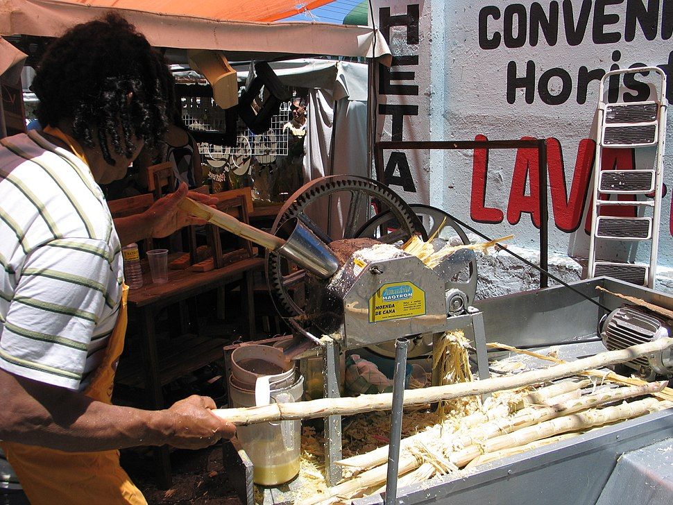 Extracting Sugar Cane Juice in Brazil