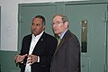FEMA - 33973 - Harvey Johnson and Orleans Parish Criminal Sheriffs Office's Marlin Gusman, New Orleans.jpg