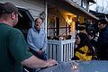 FEMA - 39957 - FEMA mitigation worker being interviewed in Washington.jpg